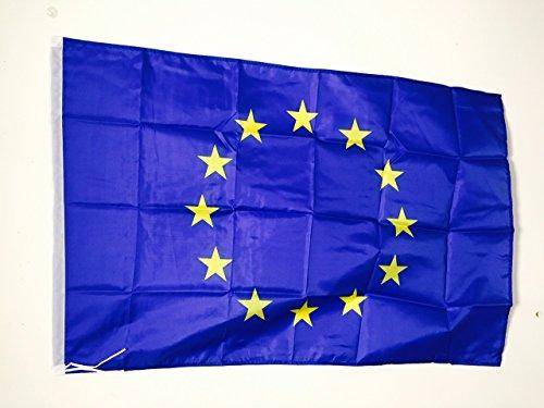 AZ FLAG Drapeau Europe 90x60cm - Drapeau européen - Union Européenne - UE 60 x 90 cm Fourreau pour hampe