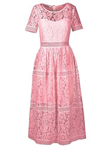 Apart Damen Spitzenkleid Formales Abendkleid, Mauve, 38