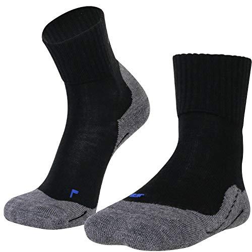 gipfelsport Wandersocken Experience aus Merino Wolle - Socken für Outdoor, Trekking I Größe 42-44 I Schwarz I 1x Paar