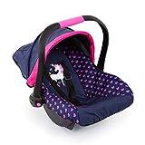 Bayer Design Silla de coche Easy Go, accesorios, Asiento para bebé de Muñecas, color azul con motivo de corazón y unicornio (67954AA)