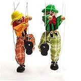 LAANCOO 1PC Payaso Mano de Marionetas de Marionetas para niños de Marionetas de Madera Juguetes de Colores de Marionetas de la marioneta muñeca Padres e Hijos Juguetes interactivos (Random)