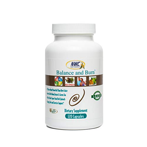Balance & Burn Natural Nitric Oxide Supplement for Men & Women, Supports Healthy Blood Sugar & Normal Cholesterol Levels, Natural Energy & Healthy Circulation-120 Capsules by NWC Naturals (B200)