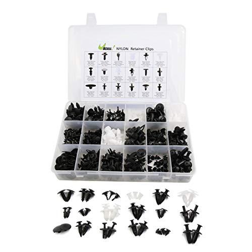YeVhear - Lote de 415 remaches de plástico para coche (18 unidades, cierre de clip)