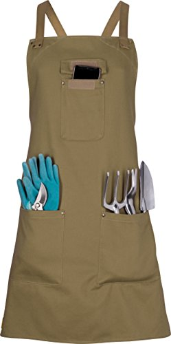 Gardening Apron with Pockets for Women - Work or Utility Apron, Artist...
