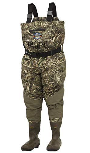 FROGG TOGGS Grand Refuge 2.0 Breathable & Insulated Bootfoot Chest Wader, Cleated Outsole, Realtree Max5, Size 7