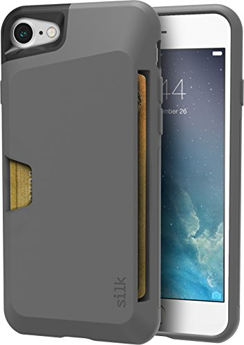 Smartish iPhone 7/8 Wallet Case - Wallet Slayer Vol. 1 [Slim + Protective + Grip] Credit Card Holder for Apple iPhone 8/7 (Silk) -Gray Area