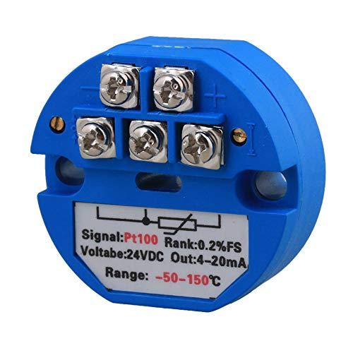 BQLZR Kunststoff PT100 Temperatur Messumformer -50-150C Ausgang 4-20mA 24VDC