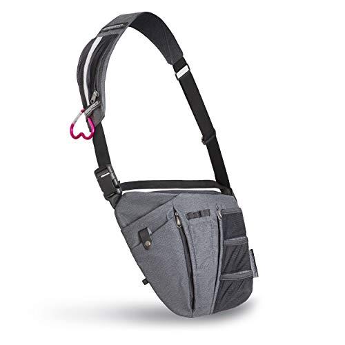 Hands-Free Crossbody Nursing Tool Organizer Bag – Unisex, 10 Spacious Pockets for Stethoscope, Medical Supplies, Includes Phone Storage (Grey)