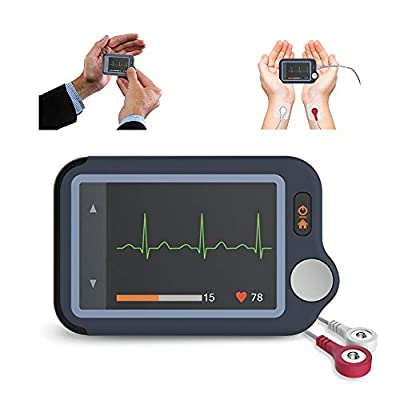 Wellue Heart Monitor, Bluetooth Heart Monitoring Device with iOS & Android App, 30s/60s/5mins Recording Length, Work with Smartphone and PC, Personal Portable Heart Health Tracker for Fitness Home Use