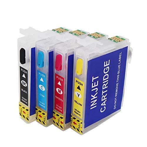 WSCHENG para EPSON T2971 Cartucho de Tinta Recargable para EPSON XP231 XP431 XP-241 Cartucho de Impresora de inyección de Tinta con 2 Juegos de una Sola Vez.