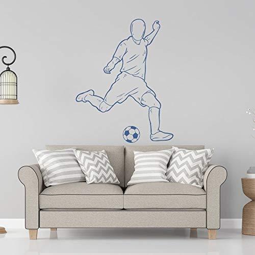 wZUN Jungen Spielen Fußball Wandtattoos Fußball Sport Aufkleber nach Hause Wohnzimmer Wandkunst Dekoration 57x72cm
