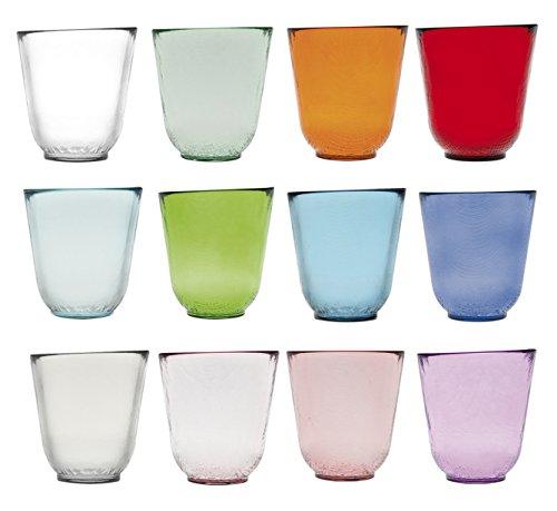 H&H St. Germain Set Bicchieri, Multicolore, 12 unità, pz