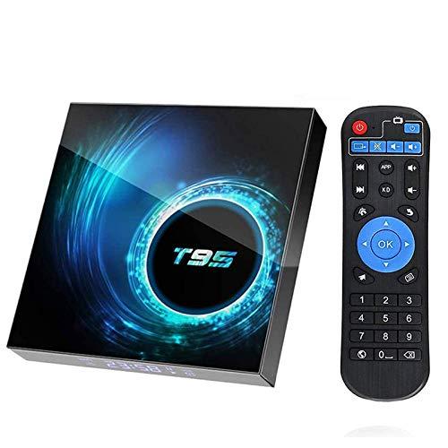 Android 10.0 TV Box 【4GB+32GB】 Android Box mit 64 Bits Quad Core Dual WiFi 2.4G+5G BT 5.0 6K Ultra HD H.265 3D Internet Smart TV Box