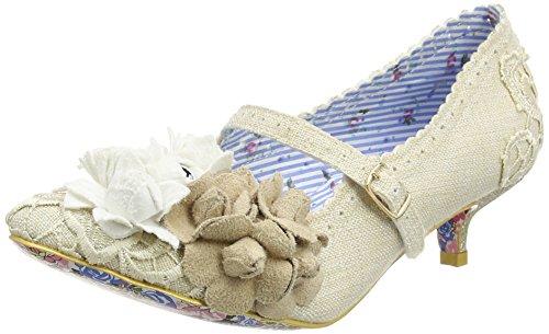 Irregular ChoiceDaisy Dayz - Zapatos de Tacón mujer, color marfil (Off White), talla 5 UK (38 EU)