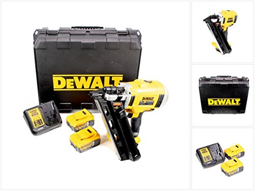 DeWalt DCN692P2 Accu-nagelpistool met 2 standen, 18 V, 5 Ah, borstelloos, compact en draadloos, voor 90 mm-nagels, incl. accessoires, 2 accu's, systeemsnellader en transportkoffer