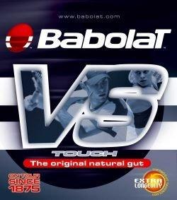 Babolat VS Touch Natural Gut 1.30mm Tennis String Set, Color- Black