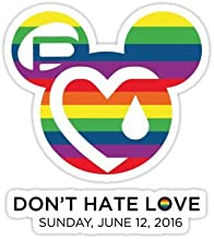 Support for the victims of the horrific shooting at Orlando's Pulse Nightclub. - Sticker Graphic Bumper Window Sicker Decal - Gay Pride Sticker