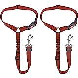 Cintura Sicurezza Cani, 2 Pezzi Cinture Sicurezza per Cani Regolabile, Cintura di Sicurezza per Cani Auto con Ammortizzazione Elastica per Cani e Animali Domestici