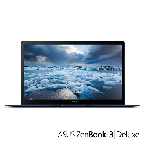 "ASUS UX490UA-IH74-BL ZenBook 3 Deluxe 14"" FHD Ultraportable Laptop, Intel Core i7-8550U, 16GB RAM, 512GB SSD, Windows 10 Pro, Royal Blue"