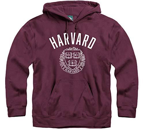 Ivysport Harvard University Hooded Sweatshirt, Heritage, Crimson, Large