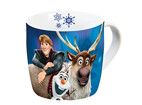 Disney Frozen 12754 Olaf & Sven Tasse, Porzellantasse, Kaffeetasse, Kindertasse, Porzellan, Mehrfarbig