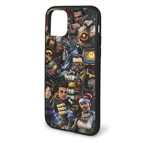 Houte Apex Legends Game Action Compatible with iPhone 11 12 PRO Max XR XS Max 6/7/8 Plus SE 2020 Case TPU Fall Protection Black Phone Cases Cover