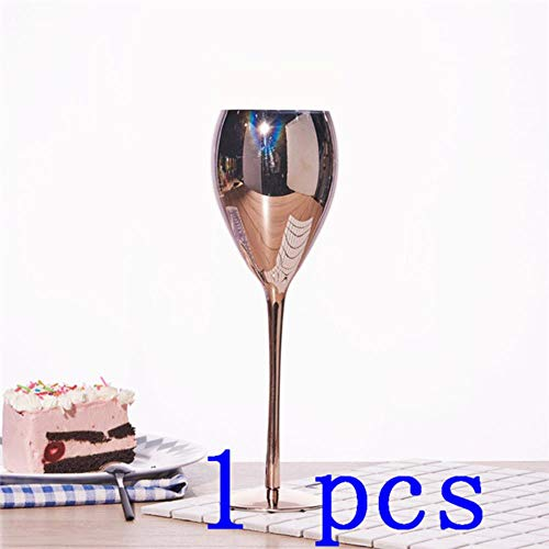 Ltong Rose Golden Crystal Goblets Wijnglas Sap Drink Champagne Goblet Party Barware Diner Water Home Decor Chic Luxe, 1 stuks, 420ML