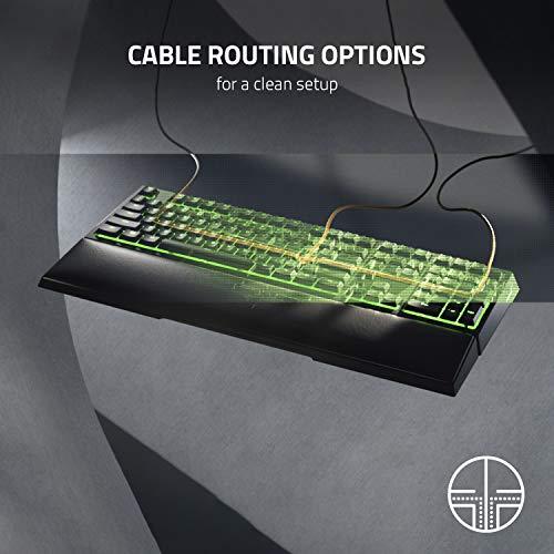 Razer Ornata V2 - Gaming Tastatur mit mecha-membranen Hybrid-Schaltern (Multifunktionaler Drehregler und Medientasten, voll programmierbar, RGB Chroma) QWERTZ | DE-Layout, Schwarz