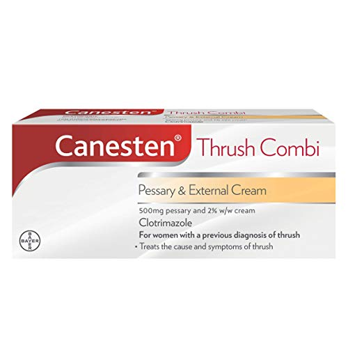 Canesten Thrush Combi Pessary & External Cream | Clotrimazole | Thrush Treatment | Complete Two-Step Thrush Treatment