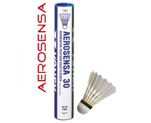 YONEX AeroSensa 30 Goose Feather Badminton Shuttlecocks Dozen 78 Medium Blue