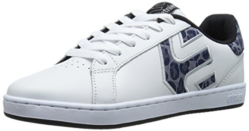 Etnies Fader Ls, Chaussures de Skateboard femme, Blanc (white/black/grey), 10 US