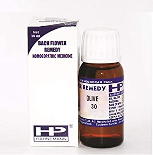 Hahnemann Bach Flower Remedy Olive for Lack of Energy, Fatigue, Convalescence. 30ml Pack of 3