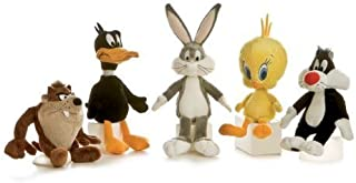 Looney Tunes Huggable Set with Bugs Bunny, Daffy Duck, Taz, Tweety, and Sylvester 6 inch Toy Stuffed Animals