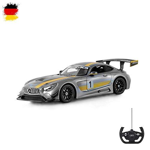 Mercedes Benz AMG GT3 - RC ferngesteuertes Lizenz Auto im Original-Design, Modell-Maßstab 1:14 mit Beleuchtung inkl. Fernsteuerung