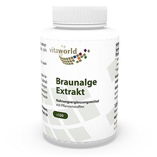 Extracto de Algas Marinas Pardas 500mg 120 Cápsulas Vita World Farmacia Alemania - Fucus Vesiculosus - Vitaminas - Minerales - Antioxidantes