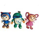 3pcs/lot 20cm Team Umizoomi Bot Milli Geo Plush Toys Doll Soft Stuffed Toys for Children Kids Christmas Gifts
