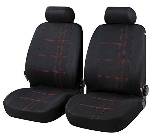rmg-distribuzione Coprisedili compatibili per Polo Versione (2005-2009 (9N)) compatibili con sedili con airbag, bracciolo Laterale, R43S0966
