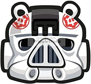 4 Inches Stormtrooper Storm Trooper Pig Pigs Angry Birds Star Wars Removable Peel Self Stick Adhesive Vinyl Decorative Wall Decal Sticker Art Kids Room Home Decor Girl Boy 4x4 Inch