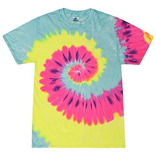 Colortone - Unisex Batik T-Shirt 'Swirl' / Blast, XL