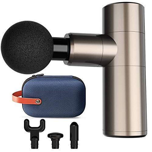 Mini Massage Gun, 4 Speeds Portable Handheld Percussion Muscle Neck Back Massager Gun for Pain Relief, Super Quiet Deep Tissue Muscle Therapy Gun