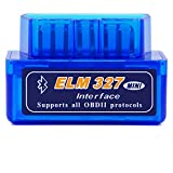 Aeanm Tooth Car Diagnostic Scan Tool, Mini Bluetooth Obd2 Scanner Elm327 Automotive OBD