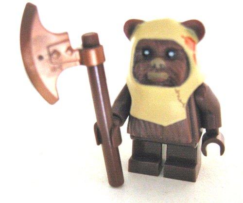 LEGO Star Wars - Minifigur Ewok Paploo mit Streitaxt - Axt - Waffen