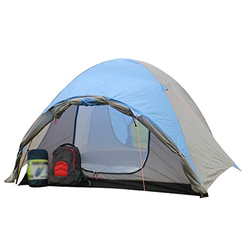 HUIYAN Camping Tents, 2-3 Bunk Camping Tent | Rain And Wind And UV Family Tent | Outdoor Dome Tent, Blue