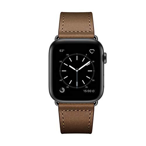 YUSWPX Reloj de Correa de Cuero marrón Oscuro Vintage, Correa de Reloj de Cuero Genuino para Hombre (Band Color : Retro Dark Brown, Band Width : 38mm or 40mm)