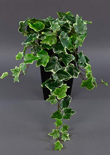 Seidenblumen Roß Efeubusch Real Touch 55cm grün-weiß DP Kusntpflanzen künstliches Efeu Efeuranke