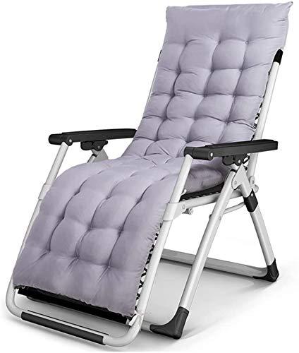 BATOWE Sillas reclinables Plegable al Aire Moderno Silla Plegable Suave y cómodo Almuerzo Siesta Hoja de Cama Plegable Respaldo Silla sillón (Color : Gray, Size : 1#)