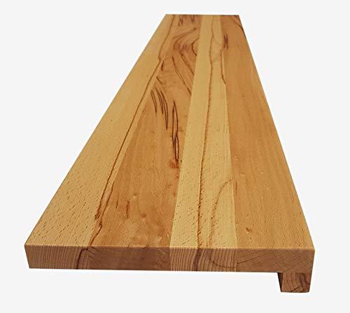 Holz-Projekt-Summer Fensterbank KERNBUCHE Massivholz Fensterbrett Treppenstufe Renovierungsstufe Trittstufe Maßanfertigung (Muster, Oberfläche geölt)