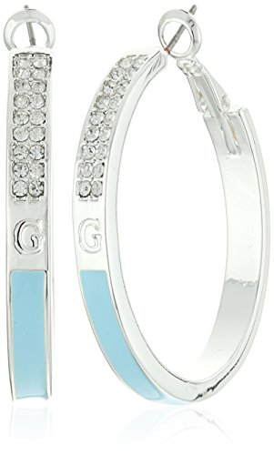 Guess Creolen aus Emaille, Silber