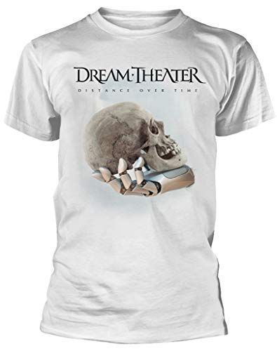 Dream Theater 'Distance Over Time (Cover)' (White) T-Shirt (2 X-Large)