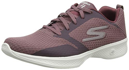 Skechers Damen Go Walk 4 Low-top Sneaker, Violett (Mauve Mve), 38 EU